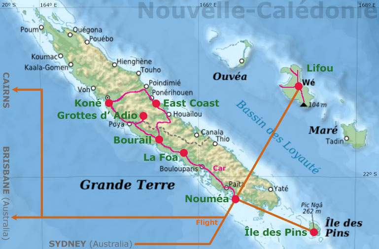NouvelleCalédonie Photography - New caledonia map